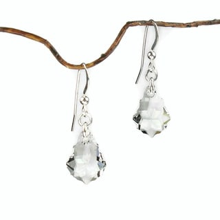 Jewelry by Dawn Clear Crystal Baroque Sterling Silver Earrings