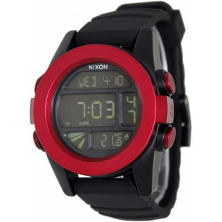 Nixon Men's A1971307-00 Black Rubber Quartz Watch with Digital Dial