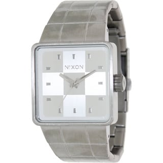 Nixon Men's Quatro A013100-00 Silver Stainless-Steel Quartz Watch with Silver Dial