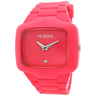 Nixon Men's A139685-00 Pink Polyurethane Analog Quartz Watch with Pink Dial