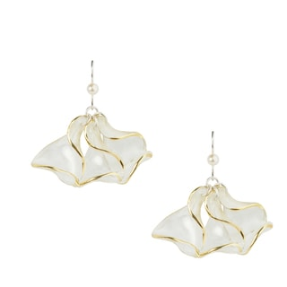 Sterling Silver Filled Two-tone Transcend Petals Earrings (Bulgaria)