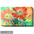 Studio Works Modern 'May Daisies - Purple or Orange' Gallery Wrapped Canvas