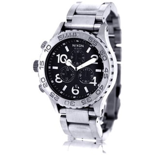 Nixon Men's Stainless Steel Black Dial Quartz Watch