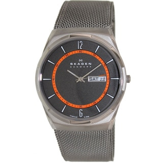 Skagen Men's Aktiv Silver Stainless Steel Grey Dial Quartz Watch