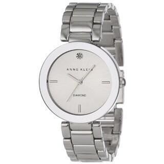 Anne Klein Women's Silver Stainless Steel Silver Dial Quartz Watch