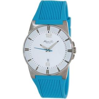 Kenneth Cole Women's White Dial Blue Silicone Analog Quartz Watch