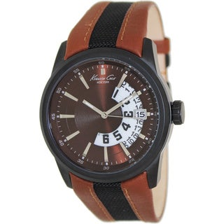 Kenneth Cole Men's Two-tone Leather Brown Dial Quartz Watch