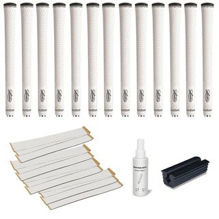 Lamkin Performance Plus 3GEN Midsize White - 13pc Grip Kit (with tape, solvent, vise clamp)