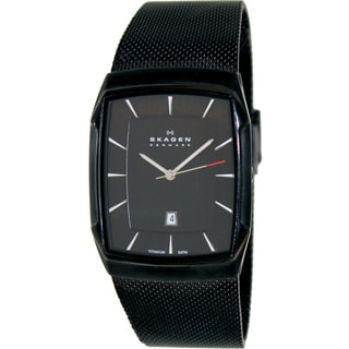 Skagen Men's 'Aktiv SKW6011' Black Metal Black Dial Quartz Watch