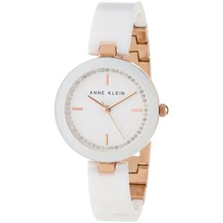 Anne Klein Women's AK-1314RGWT White Ceramic Quartz Watch