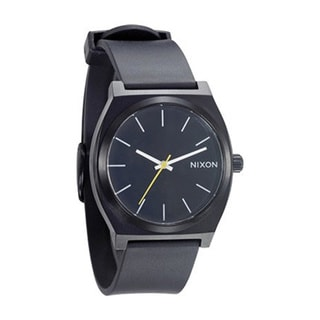 Nixon Men's Time Teller Black Polyurethane Black Dial Quartz Watch