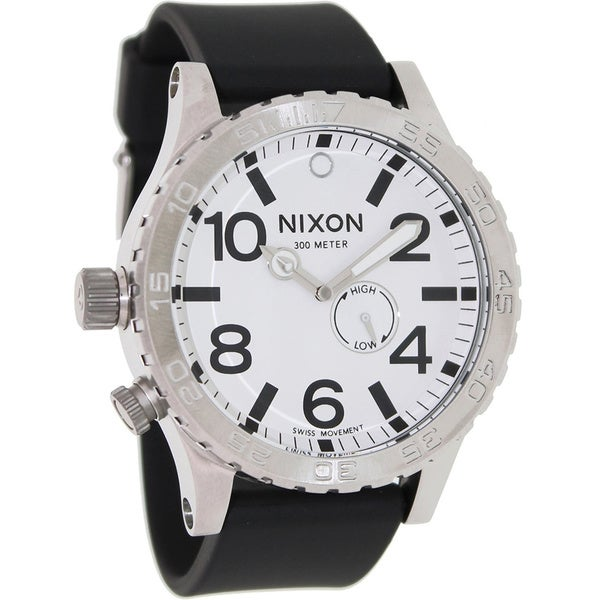 Nixon Men's 51-30 Black Resin White Dial Swiss Quartz Watch