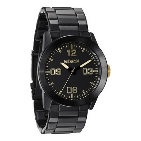 Nixon Men's Private SS Black Stainless Steel Black Dial Analog Quartz Watch