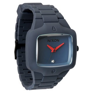 Nixon Men's Rubber Player Blue Polyurethane Analog Quartz Watch
