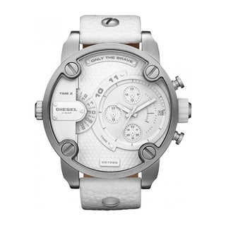 Diesel Men's White Leather Quartz Watch