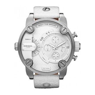 Diesel Men's White Leather Quartz Watch