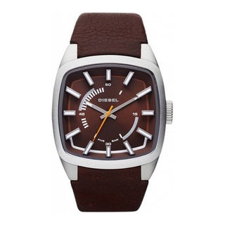 Diesel Men's Brown Leather Quartz Watch