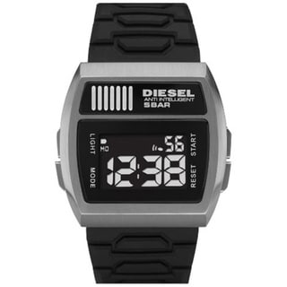 Diesel Men's Black Silicone Black Dial Quartz Watch
