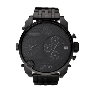 Diesel Men's Black Stainless Steel Quartz Watch