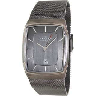Skagen Men's Aktiv Stainless Steel Black Dial Quartz Watch