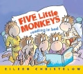 Five Little Monkeys Reading in Bed (Board book)