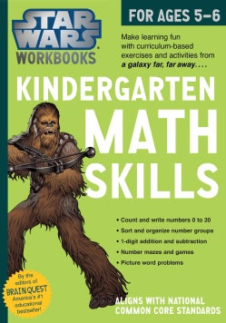 Star Wars Kindergarten Math Skills, for Ages 5-6 (Paperback)