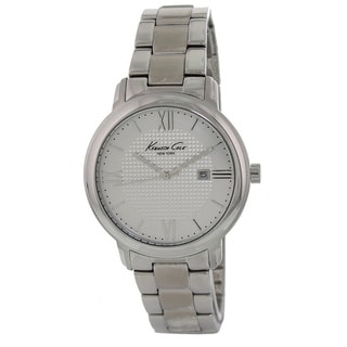 Kenneth Cole Women's KC7015 Silver Stainless-Steel Quartz Watch with White Dial