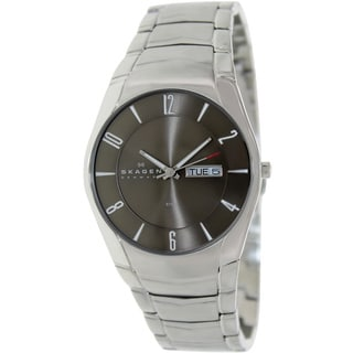 Skagen Men's Black Label 531XLSXM1 Silver Stainless-Steel Quartz Watch with Black Dial