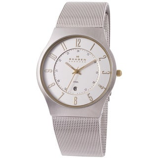 Skagen Men's 233XLSGS Silver Stainless-Steel Quartz Watch with Silver Dial