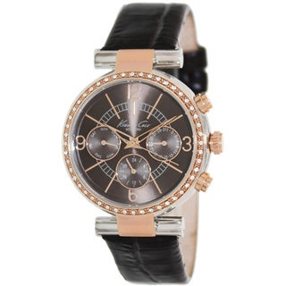Kenneth Cole Women's KC2747 Brown Leather Swiss Chronograph Watch with Brown Dial