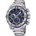 Festina Men's Tour De France F16599/2 Silver Stainless-Steel Analog Quartz Watch with Blue Dial