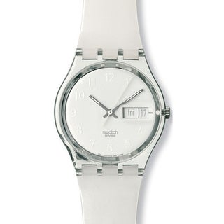 Swatch Men's Originals GK733 White Plastic Quartz Watch with White Dial