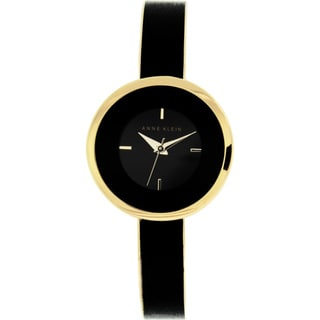 Anne Klein Women's AK-1232BKGB Black Metal Quartz Watch with Black Dial