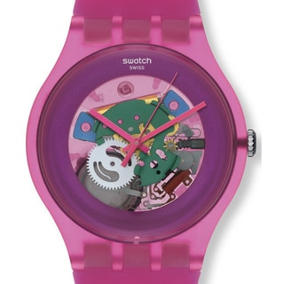 Swatch Women's Originals SUOP100 Pink Plastic Quartz Watch with Pink Dial