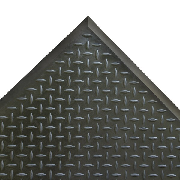 Rubber-Cal Foot Rest Black Anti-fatigue Rubber Comfort Mats (2'4 x 2'7) 11558538