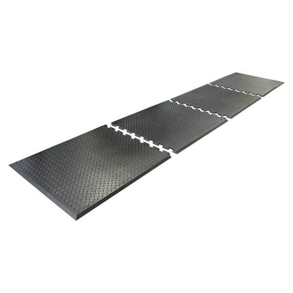 Rubber-Cal Foot Rest Anti-Fatigue Matting 1/2 x 28 x 31-inch Black Interlocking Mat 11558546