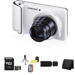 Samsung GC100 Galaxy 16.1MP White Digital Camera (AT&T) 16GB Bundle