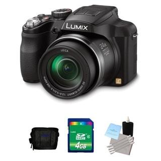 Panasonic Lumix FZ60 16.1MP Black Digital Camera 4GB Bundle