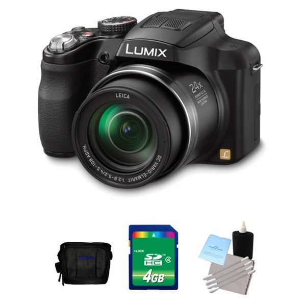 Panasonic Lumix FZ60 16.1MP Black Digital Camera 4GB Bundle