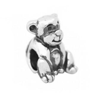 De Buman Sterling Silver Antiqued Monkey Charm Bead