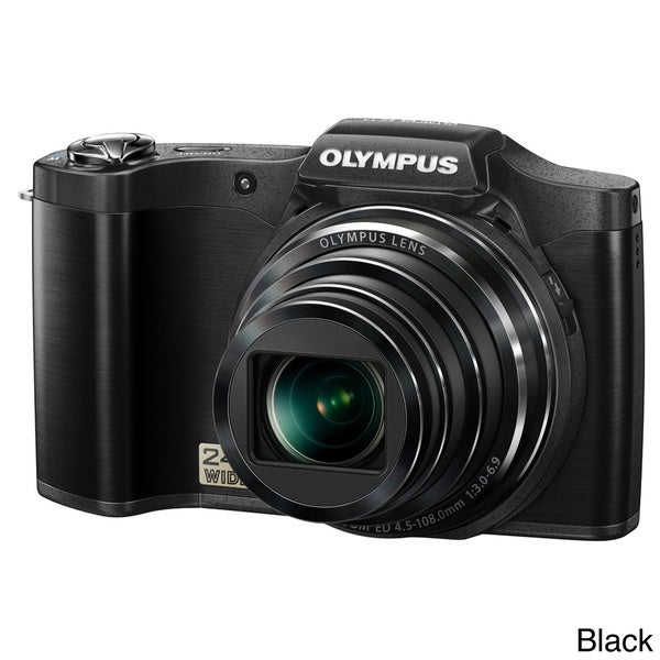 Olympus SZ14 14MP Digital Camera with Deluxe Bonus Accessories Kit (Refurbished)