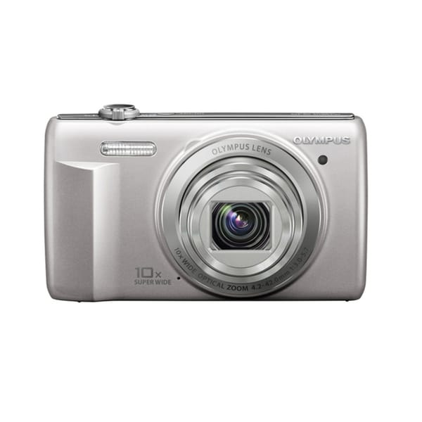 Olympus VR-340 16MP Silver Digital Camera with Deluxe Bonus (Refurbished)
