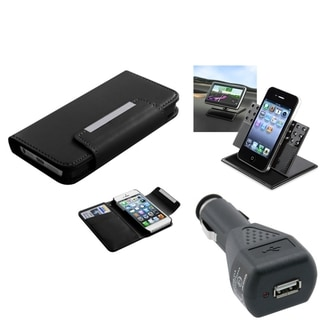 BasAcc Car Charger/ Dashboard Holder/ MyJacket Case for Apple iPhone 5