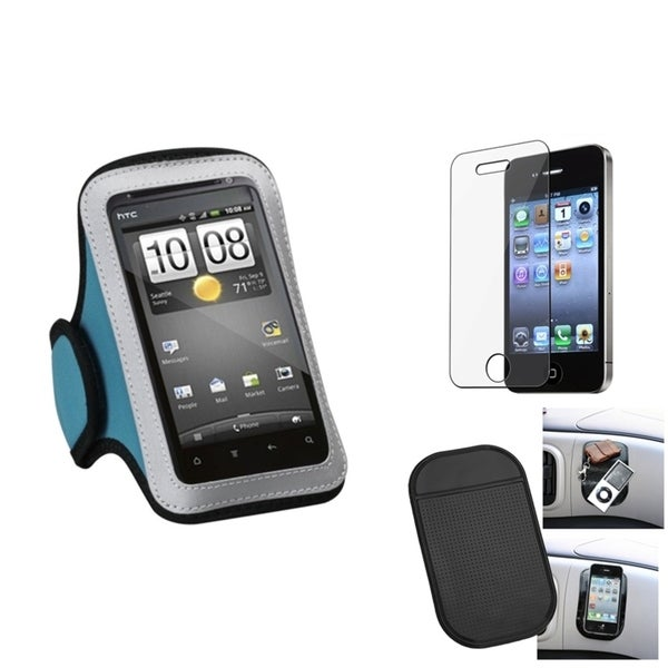 INSTEN Clear Screen Protector/ Anti-slip Mat/ Armband for Apple iPhone 4S