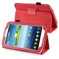 BasAcc Red Leather Case with Stand for Samsung� Galaxy Tab 3 7.0