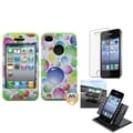 BasAcc Car Dashboard Holder/ TUFF Hybrid Case for Apple� iPhone 4/ 4S
