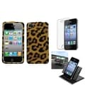 BasAcc Car Dashboard Holder/ Leopard Skin Case for Apple iPhone 4/ 4S