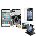 BasAcc Car Dashboard Holder/ Skullcap Hybrid Case for Apple� iPhone 4S