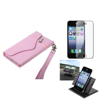BasAcc Car Dashboard Holder/ MyJacket Wallet Case for Apple iPhone 5