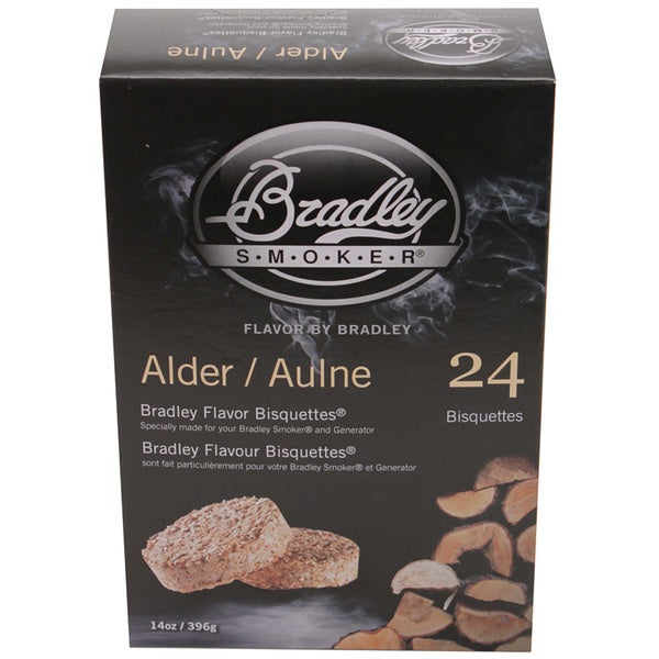 Bradley Smokers Alder Smoker Bisquettes (Pack of 24)